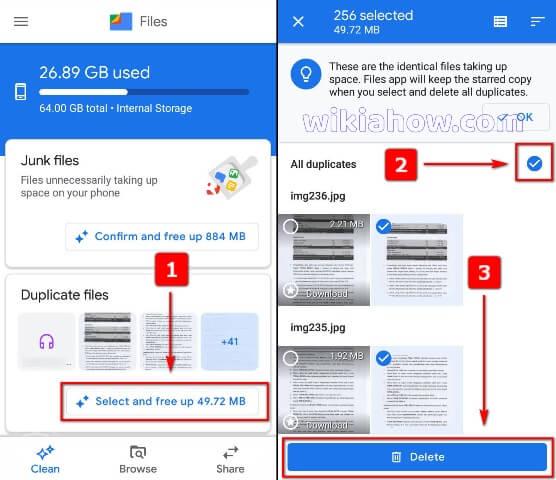 Google Files App Delete Duplicate Files